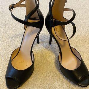 Nine West Black Strappy Heels